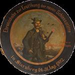 Ehrenscheibe 1902 Gasthaus zur Schießstätte